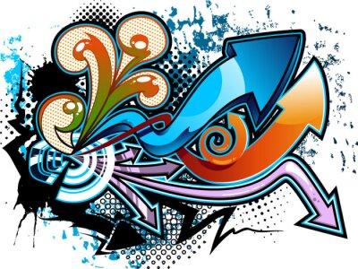 Adesivo Sfondo Graffiti