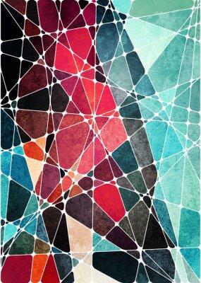 Adesivo sfondo grunge astratto geometrico