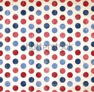 Adesivo Sfondo patriottico - punti rossi e blu