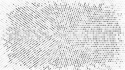 Adesivo Sfondo punteggiato mezzitoni. Modello di vettore effetto mezzetinte. Punti del cerchio isolati su sfondo bianco.