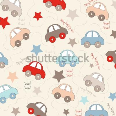 Adesivo sfondo trasparente con automobili, illustrazione vettoriale