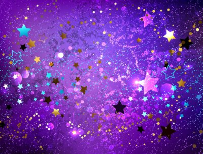 Adesivo Sfondo viola con stelle