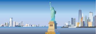 Adesivo Silhouette della città di New York