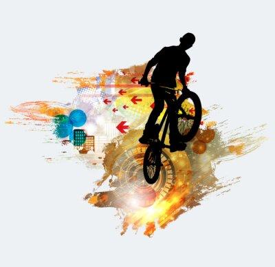 Adesivo Silhouette di ponticello di bicicletta