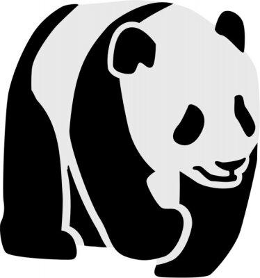 Adesivo Silhouette di un panda