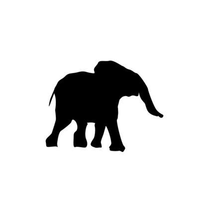 Adesivo silhouette elefantino