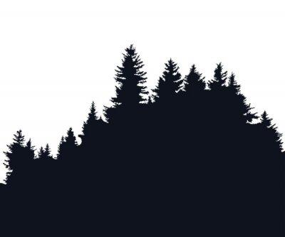 Adesivo silhouette Foresta