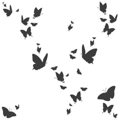 Adesivo Silhouetten von Schmetterlingen