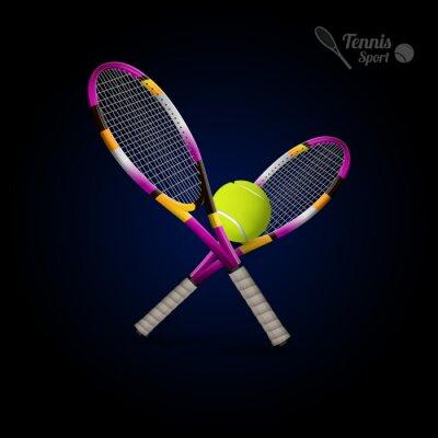 Adesivo simboli di vettore di tennis come elementi di design, palle da tennis, tennis r
