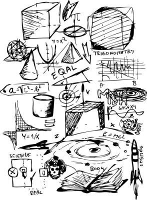 Adesivo simboli matematici
