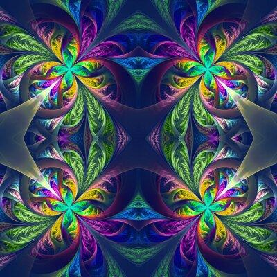 Adesivo Simmetrica trafori frattale multicolore. Collection - gelido patt