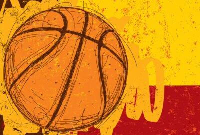 Adesivo Sketchy Basketball Background