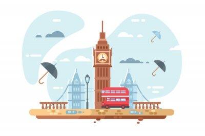 Adesivo Skyline della città di Londra