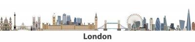 Adesivo Skyline della città di vettore di Londra