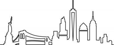 Adesivo Skyline di New York City