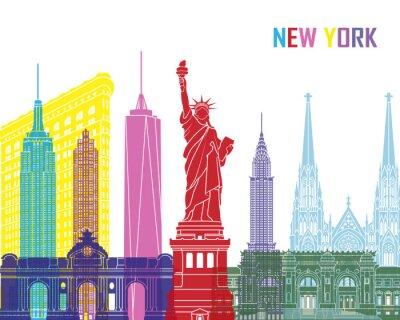 Adesivo Skyline di New York pop