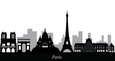 Adesivo Skyline di Parigi