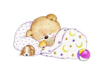 Adesivo Sleeping Teddy bear