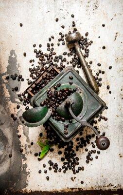 Adesivo Smerigliatrice di caffè dell'annata con il pestello