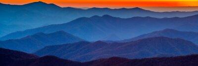 Adesivo Smoky tramonto montagna