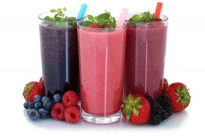 Adesivo Smoothie Saft mit Früchte Fruchtsaft Freisteller