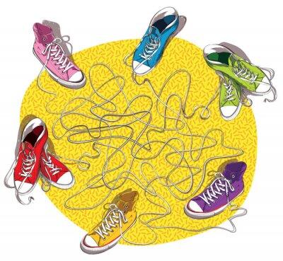 Adesivo Sneakers Maze Game