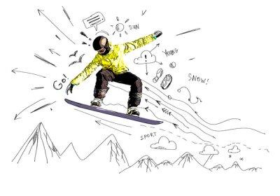 Adesivo Snowboard