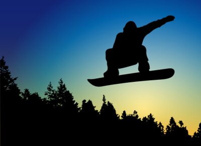 Adesivo Snowboard salto