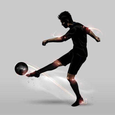 Adesivo soccer player mezzo volley