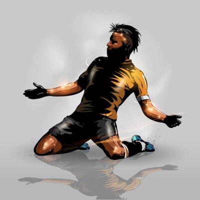 Adesivo soccer player scoring goal
