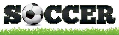 Adesivo Soccer Word Art Illustration