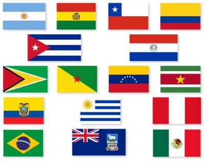 Adesivo South American Flag Set