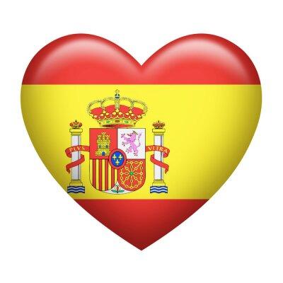 Adesivo Spanish Insignia Heart Shape