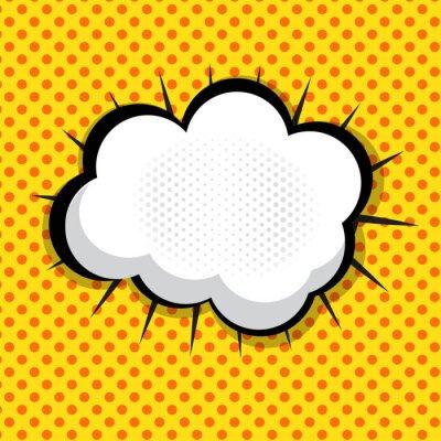 Adesivo Speech Bubble Pop Art Contesto Il Dot Background Vector Illust