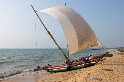 Adesivo Spiaggia catamarano Negombo, Sri Lanka
