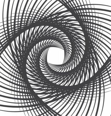 Adesivo spirale vortice astratto in bianco e nero