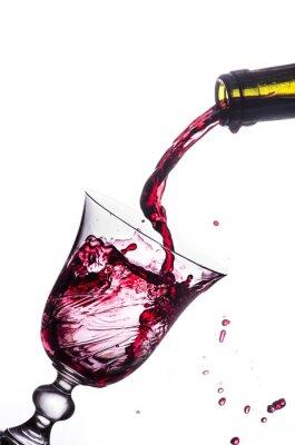 Adesivo splash vino rosso