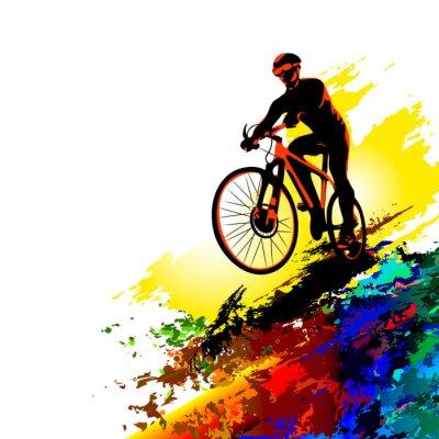 Adesivo Sport da motociclista. Illustrazione vettoriale
