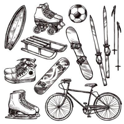 Adesivo Sport Equipment Set