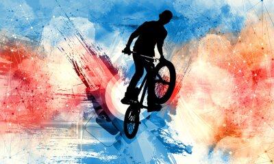 Adesivo Sport illustration of bmx rider