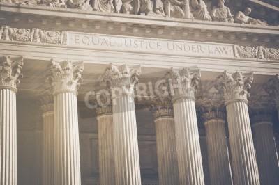 Adesivo Stati Uniti Corte Suprema Pilastri della Giustizia e diritto