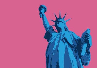 Adesivo Statue de la liberté - New York - symbole, américain - decorazione - déco - fond