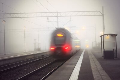 Adesivo Stazione lasciando treno