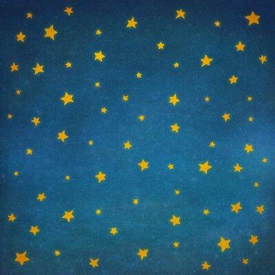 Adesivo Stelle in cielo notturno, sfondo illustrazione arte