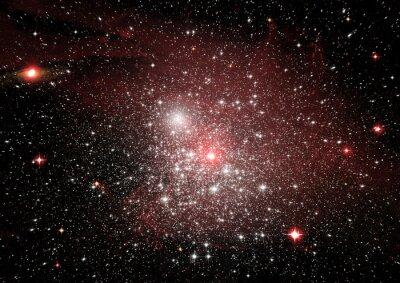 Adesivo Stelle, polvere e nebulose di gas in una galassia lontana
