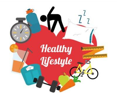 Adesivo stile di vita sano