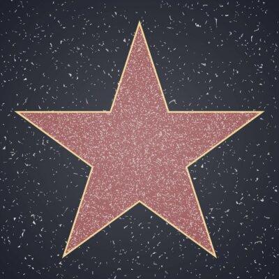 Adesivo Strada della gloria. modello in bianco della stella