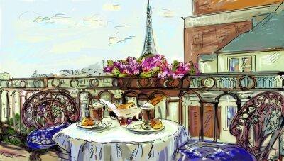 Adesivo Strada in paris - illustrazione