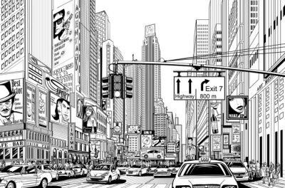 Adesivo strada nella città di New York