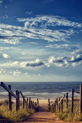 Adesivo Strada per la spiaggia in riva al mare